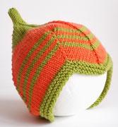 Babymütze Teufelsmütze orange grün