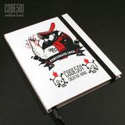 Обложка скетчбука - Fortunate Jack (#004)