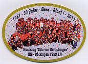 Karnevalsorden 2011 - 30 Jahre Bonn