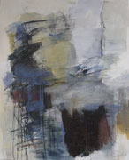 o.T., 2008, Mischtechnik auf Leinwand, 110 x 90 cm