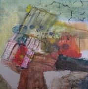 o. T., 2006, Mischtechnik auf Leinwand, 40 x 40 cm