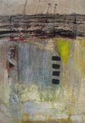 o.T., 2006, Mischtechnik auf Filzpappe, 100 x 80 cm