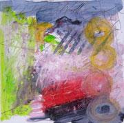 o.T., 2007, Mischtechnik auf Leinwand, 40 x 40 cm