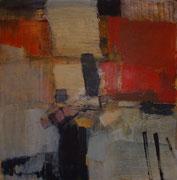 o.T., 2006, Mischtechnik auf Leinwand, 110 x 110 cm