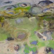 o.T., 2008, Mischtechnik auf Leinwand, 80 x 80 cm