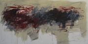 o.T. 2009, Mischtechnik auf Leinwand, 190 x 80 cm