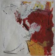 o.T., 2007, Mischtechnik auf Papier, 40 x 40 cm