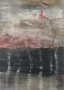 o.T., 2009, Mischtechnik auf Leinwand, 70 x 50 cm
