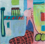 Ein Schuh geht auf Reisen, 40 x 40 cm, 2014, Acryl/Pigment