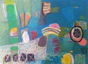 Tohuwabohu, 60 x 40 cm, 2016, Acryl