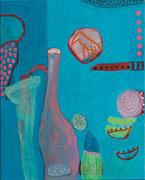 Stillleben mit Messer, 40 x 50 cm, 2013, Acryl/Kreide
