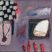 Ohne Titel, 40 x 40 cm, 2014, Acryl/Collage