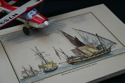 Buch in Farblithographie mit Schiffsmotiv, ideal als Reise-und Erlebnisbuch, Buchblock handgeschöpftes Büttenpaier, 100 Seiten, Buchgröße DIN A 3, Euro 250,00