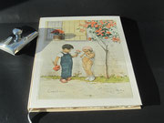 Buch mit einem Kupferstich eines Künstlers aus dem Elsass. Hochzeits- Kinderbuch für Momente mit Emotionen. Buchblock handgeschöpftes Büttenpaier, 100 Seiten, Buchgröße DIN A4, Euro 139,00