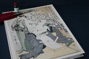 Buch in Japanischen Druck der Seidenherstellung. Ein Geschek als ich in Japan war. Buchblock handgeschöpftes Büttenpaier, 100 Seiten, Buchgröße DIN A 3, Euro 159,00