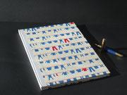 Buch in Baby Design, handgeschöpftes Baumwollpapier, Buchblock handgeschöpftes Büttenpaier, 100 Seiten, Buchgröße DIN A 4, Euro 89,00