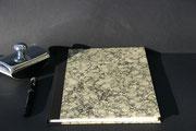Buch in marmorisierten handgeschöpften Baumwollpapier. Aus einer Manufaktur in Deutschland. Buchblock handgeschöpftes Büttenpaier, 100 Seiten, Buchgröße DIN A 4, Euro 89,00