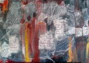 Worte, Aquarell auf Leinwand, 70x50cm, verkauft