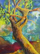 Baum, Acryl, 39x49cm, gerahmt