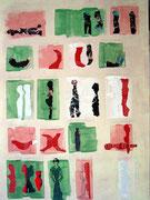 Ein beschriebenes Blatt, Collage, 50x70cm