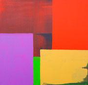 Farbenspiel, 40x40cm, Acryl,