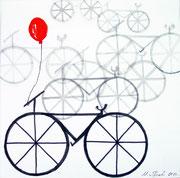 Fahrrad klein, Tusche, verkauft