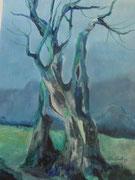 Ölbaum, Acryl, 40x58cm