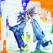 Versöhnung, Acryl, 30x30cm