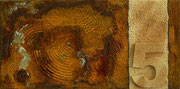 """Aberglaube""          Acryl + Oxidation     20 x 40 cm"