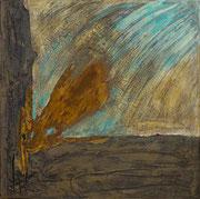 """Der Weg""          Acryl + Oxydation     50 x 50 cm"