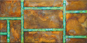 """""""Queens""""          Acryl + Oxidation     30 x 60 cm"""