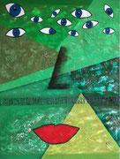 """""""Das innere Auge""""          Öl + Acryl + Mixed Media    80 x 60 cm"""