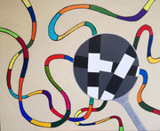 """""""Scheinwelt""""          Acryl     80 x 100 cm"""