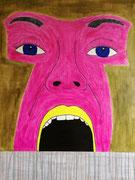 """""""Der Schrei""""          Acryl     80 x 60 cm"""