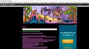 """Bannière d'une île fantastique avec des loups et des fées dessinée à la main puis mise en couleurs à l'ordinateur par Cloé Perrotin pour le blog """"elfarranne36"""" de Nadine Bonvoisin"""