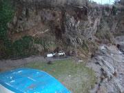 Un opti embarqué sur 3 mètres, des cailloux toimbés ..