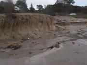 2 mètres de sable en moins sur la plage de Rospico !