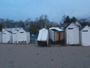Quelques cabines de plage ont souffert