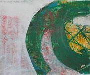 o. Titel / 50x 70 cm / ACryl/Mischtechnik auf LW