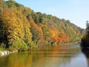 Herbststimmung an der Alm in Mühltal