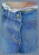 Jeans 3, Stift, Kreide, 30 x 20 cm