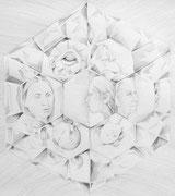 Kaleidoskope 2 , Aquarell, 50 x 50 cm