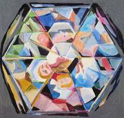 Kaleidoskope 1 , Aquarell, 50 x 50 cm