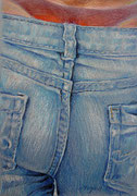 Jeans 5, Stift, Kreide, 30 x 20 cm