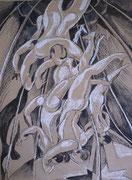 Circus 2, Stift, 60 x 50 cm