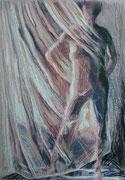 Vorhang 2, Pastell, 50 x 40 cm