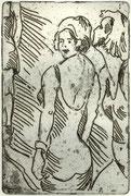 girls, Radierung, 15 x 12 cm