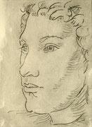 Fernand, Radierung, 15 x 12 cm