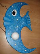 Fisch - Deckenlampe aus Holz