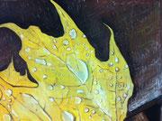 Fallen Leaves パステル Yoshio Watanabe 2012